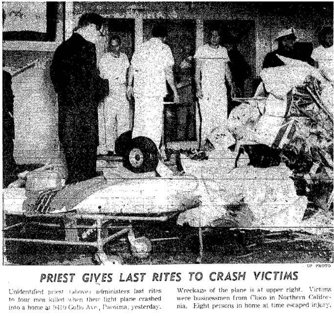 Colorized Fotos: 1957 Debris from Aerial Collision kills 7 ...